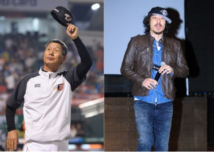 Kim Sung Guen (Eagles Manager) with Tiger JK