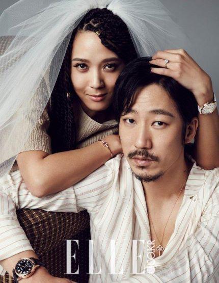YoonMiRae & Tiger JK Relive Their Wedding Day in Elle Bride